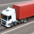 Transportation of cargoes by lorry — Stockfoto
