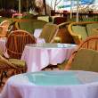 Summer open air cafe - Stock Photo