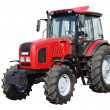 Stock Photo: New tractor on white background