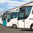 Stock Photo: Tourist buses on parking