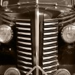Stock Photo: Old vintage black car