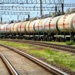 Oil transportation in tanks by rail — Stock Photo #12120414
