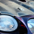 Forward headlight of the racing car — Stock Photo