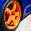 Close up of yellow wheel — Stock Photo #12120423