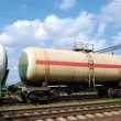 Oil transportation in tanks by rail — Stock Photo #12120424