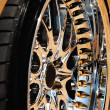 Golden wheel of car and tyre — Foto Stock #12120433