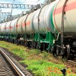 Oil transportation in tanks by rail — Stock Photo #12120441