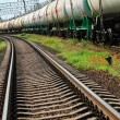 Oil transportation in tanks by rail — Stock Photo #12120443