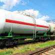 Oil transportation in tanks by rail — Stock Photo #12120458