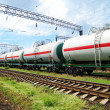 Oil transportation in tanks by rail — Stock Photo #12120474