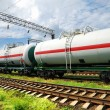 Tank cars with oil — Stock Photo