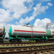 Oil transportation in tanks by rail — Stock Photo #12120479