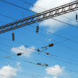 Electric infrastructure of the railway — Stock Photo