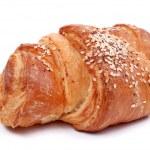 pão acabado de cozer em branco — Foto Stock