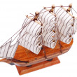 Toy sailboat on white — Stock Photo #12121217