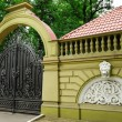 Decorative fence and gate — Stock Photo