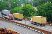 Transportation of cargoes by lorry — Stock Photo
