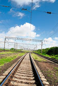 View on summer railroad — Stock Photo