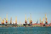 Panorama obchodní přístav — Stock fotografie