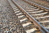 Closeup of railroad — Stock Photo