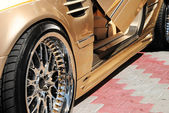 Photo of the golden car — Stock Photo