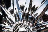De gestileerde van chromeplated wiel — Stockfoto