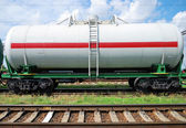 Railway tank with oil — Stock Photo