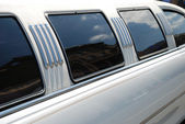 Window and roof of the limousine — Stock Photo