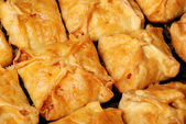 Background from just baked house rolls — Stock Photo