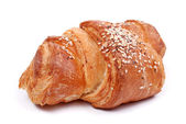 Freshly baked bun on white — Stock Photo