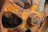 Plano de fundo de um mecanismo enferrujado — Foto Stock