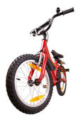 New red bicycle on white — Stock Photo
