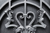 Iron fence designs — Stock Photo