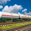 Stock Photo: White tank cars