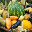 Stock Photo: Various vegetables and fruits
