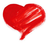 Red big heart. watercolor drawing — Stock Photo