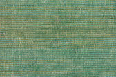 Green striped fabric background — 图库照片
