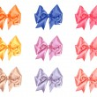 Stock Photo: Varicolored bow set