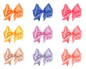 Varicolored bow set — Stock Photo