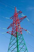 Linee elettriche ad alta tensione — Foto Stock