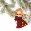 Christmas tree decoration with angel - Stockfoto