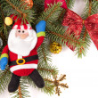 Christmas tree decoration with Santa Claus - Stock fotografie