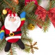 Christmas tree decoration with Santa Claus - Stockfoto