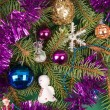 Christmas tree decoration with angel - Stock fotografie