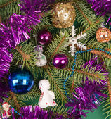 Christmas tree decoration with angel — Stock Photo