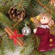 Christmas tree decoration with angel — Photo