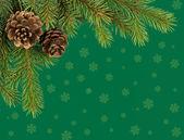 Christmas tree decoration on green — Stock Photo