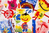 Collage of children — Stock Photo