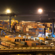 Stock Photo: Night industrial port