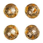 Oriental decorative golden balls — Stock Photo